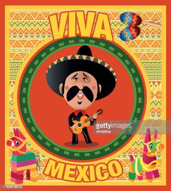 ilustrações, clipart, desenhos animados e ícones de viva méxico - pinata