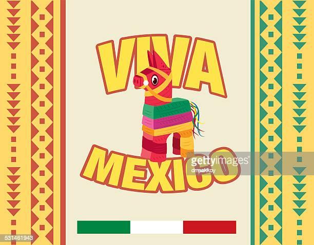 ilustrações, clipart, desenhos animados e ícones de viva mexico - pinata