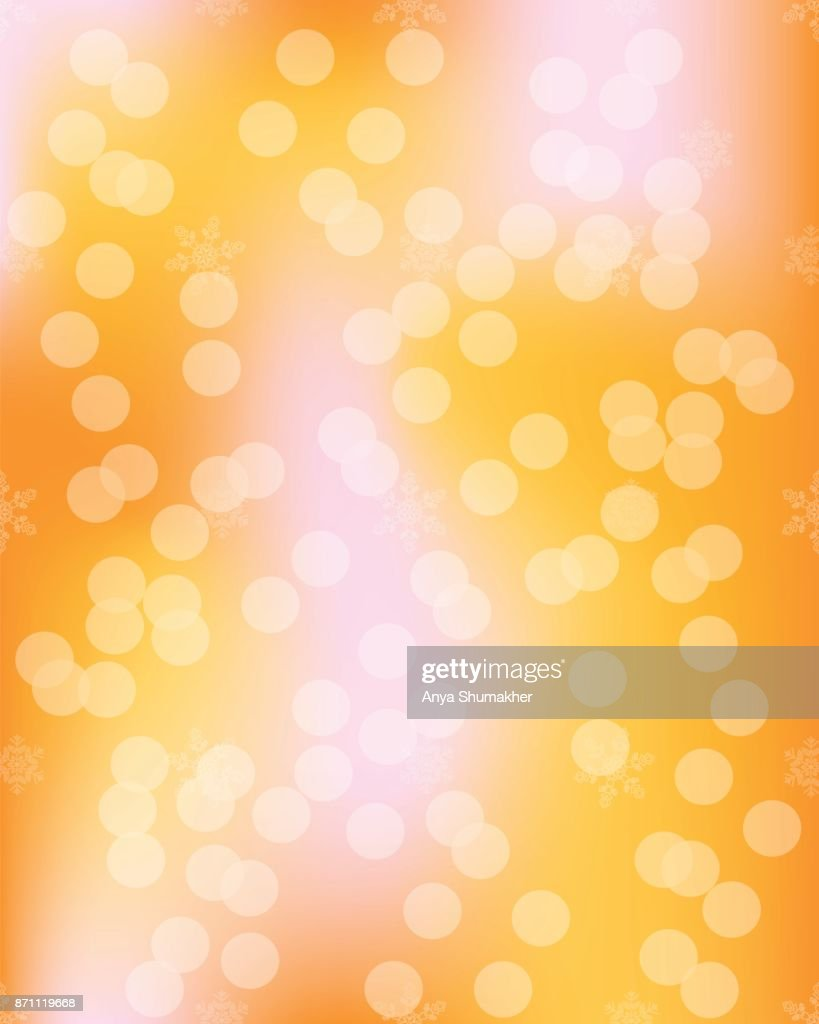Vivid bokeh in golden color. Background with highlights. vector illustration.