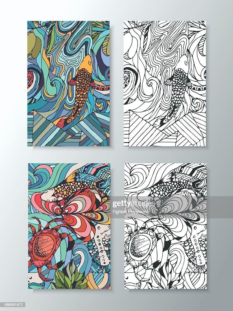 vivid illustration of marine animals