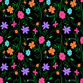 Vivid seamless floral pattern