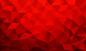 vlow poly background red color