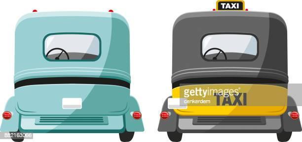 Vıntage car and taxi (vector)