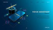 Voice assistant modern concept