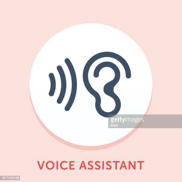 voice curve icon - assistant stock illustrations, clip art, cartoons, & icons