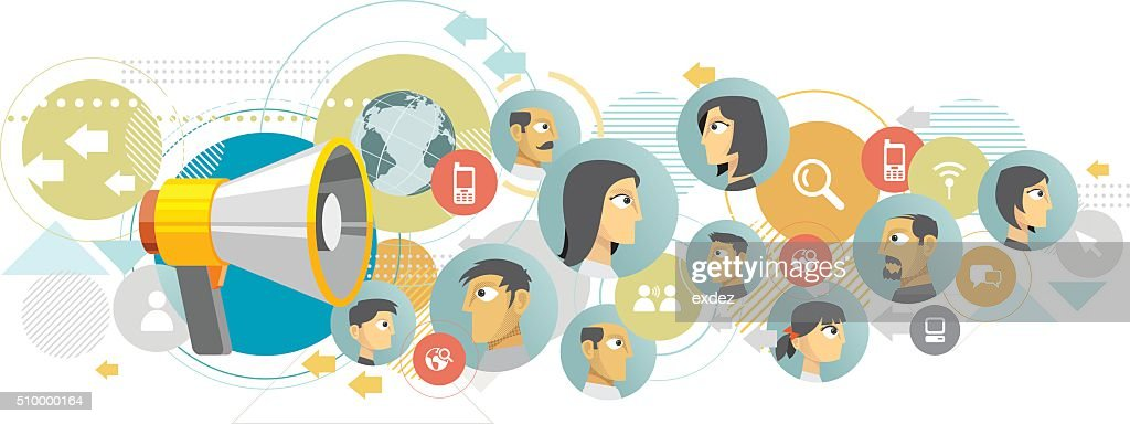 Voice of the people : stock illustration