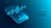 Voice recognition modern concept