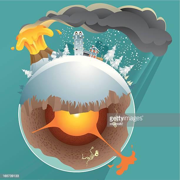 vulkan katastrophe - lava stock-grafiken, -clipart, -cartoons und -symbole