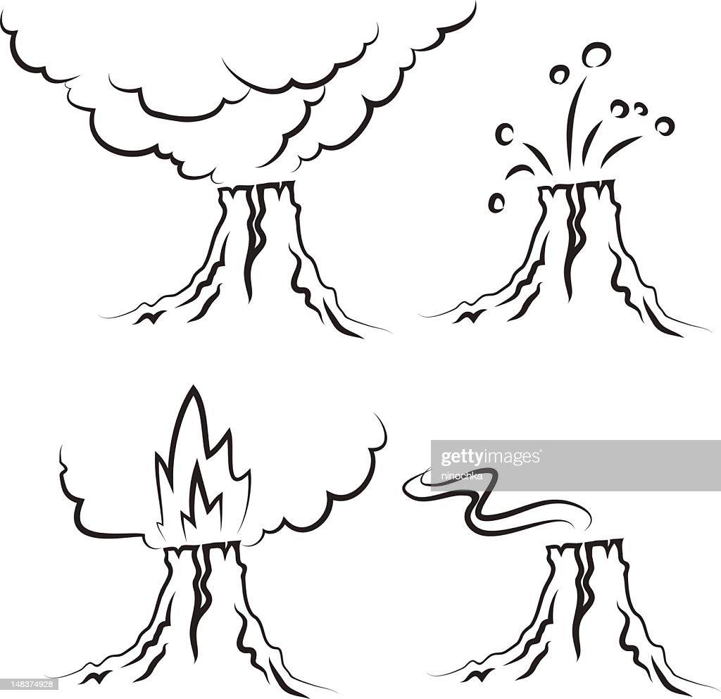 volcano : Vector Art