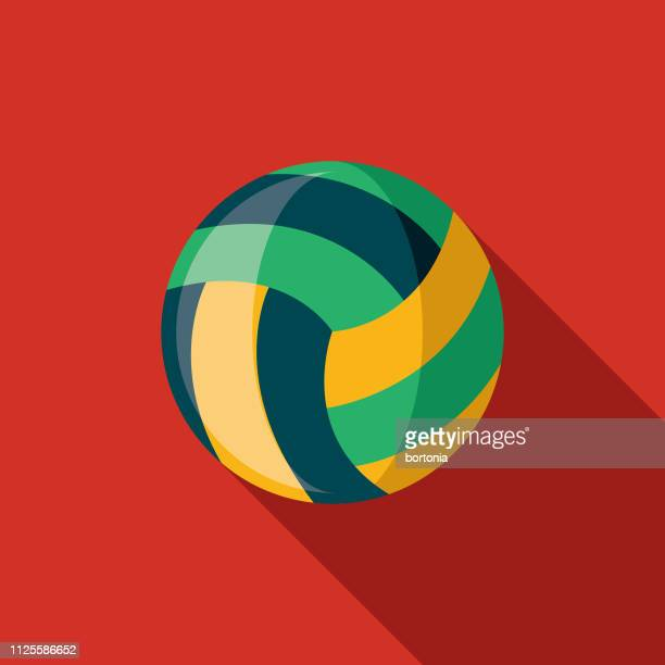 ilustraciones, imágenes clip art, dibujos animados e iconos de stock de voleibol brasil icono - vóleibol de playa
