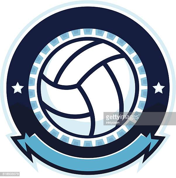 volleyball design with stars - volleyball ball stock illustrations