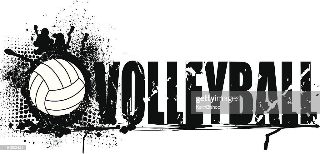 Abstract Grungy Background Volleyball Arrowhead Stock: Volleyball Grunge Graphic Background Stock Illustration