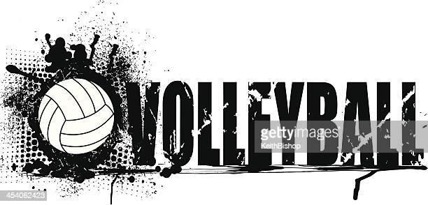 Volleyball Grunge Graphic Background