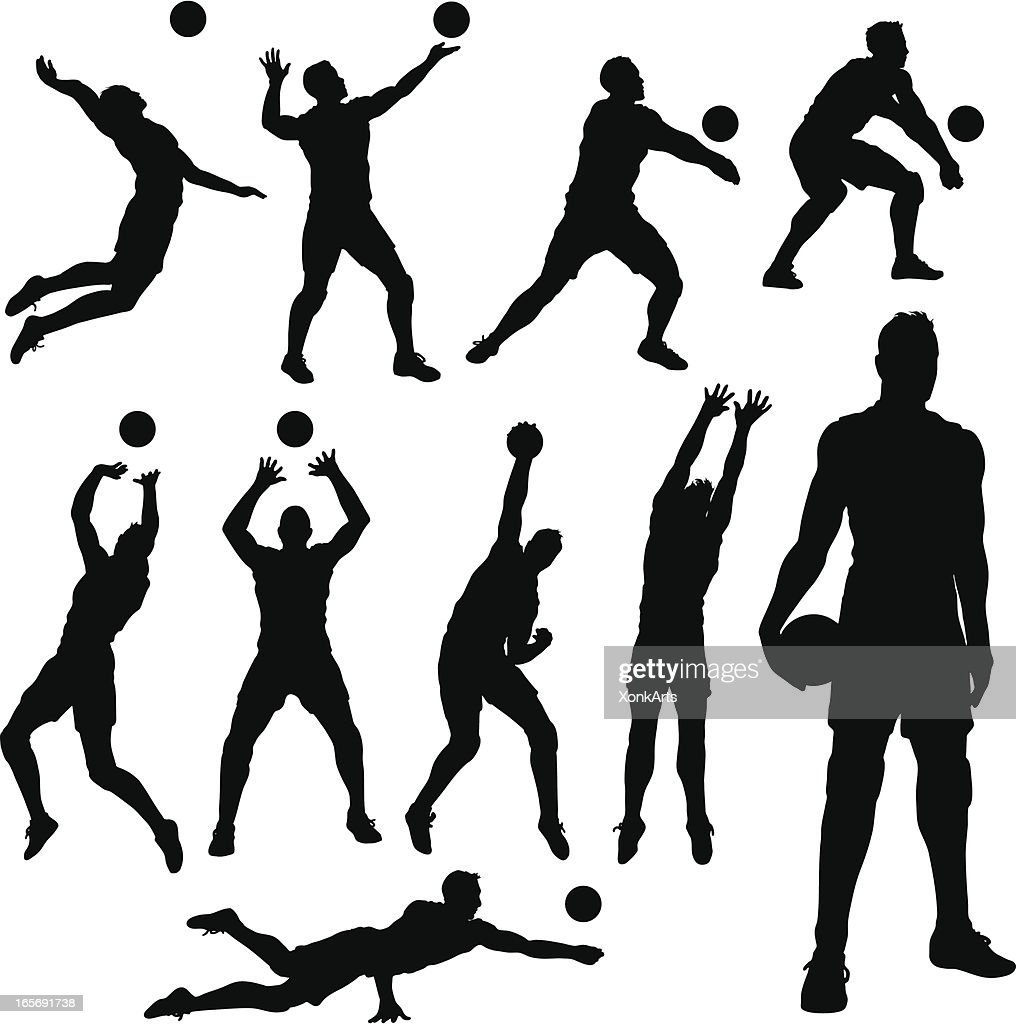 Volleyball men Silhouettes