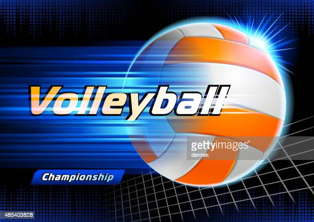 volleyball - volleyball ball stock illustrations