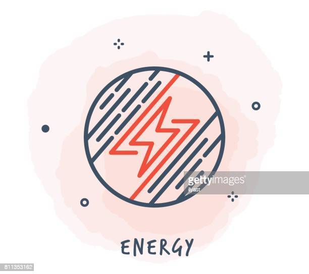 voltage line icon - sparks stock illustrations