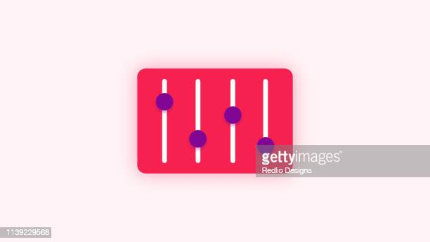 volume controller colored icon - volume knob stock illustrations, clip art, cartoons, & icons