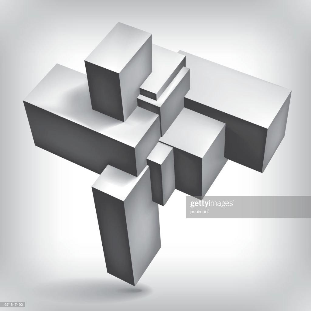 Forme Geometrique Volume 3d Cubes Objet De Groupe Dabstraction