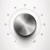 volume knob with metal texture