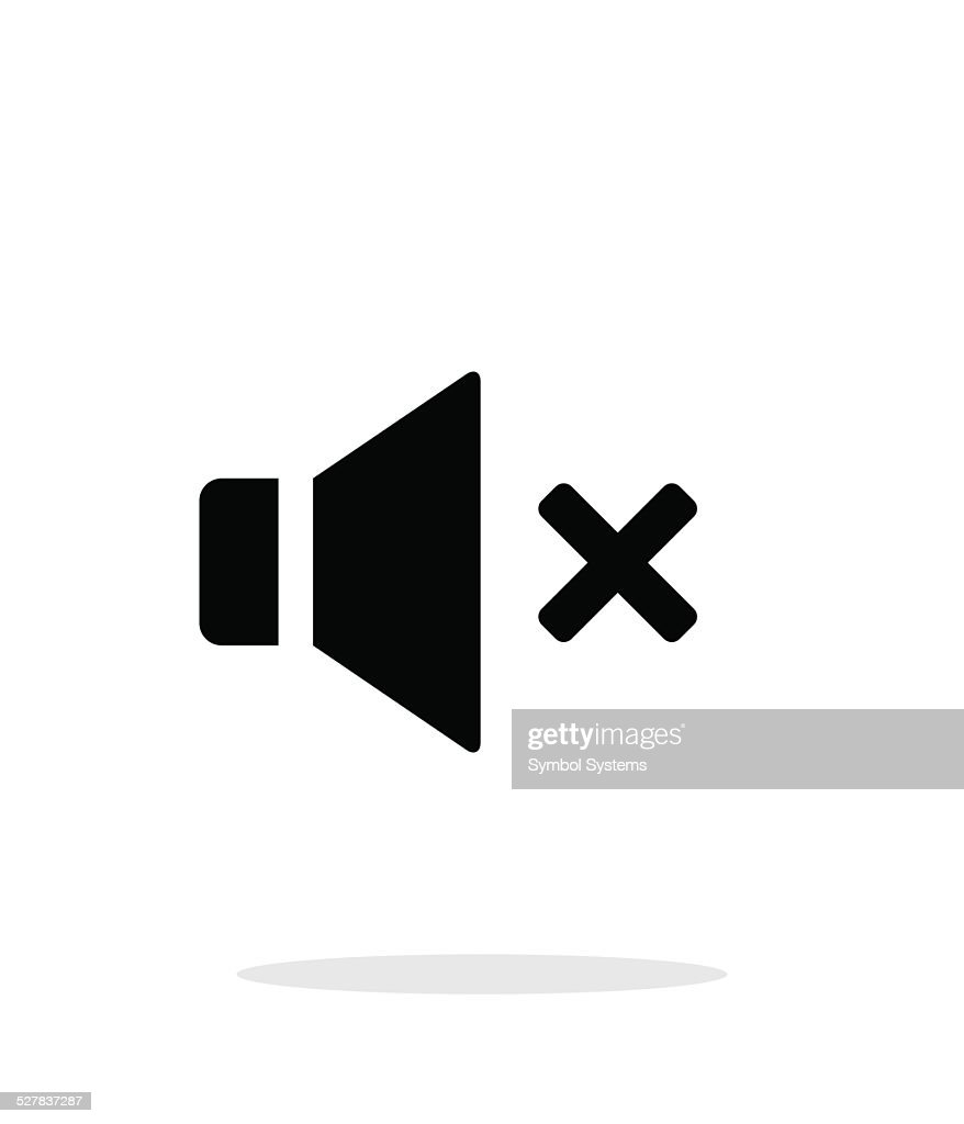 Volume mute. Speaker icon on white background.