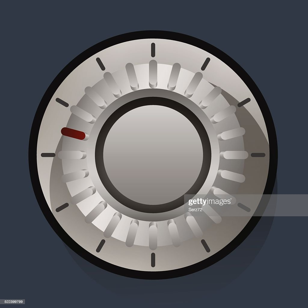 Volume settings, sound control knob, vector illustration