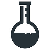 Volumetric Flask Vector Glyph Icon 32x32 Pixel Perfect. Medical Health Icon in Bold Style for Website Mobile App Presentation