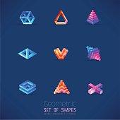 Volumetric geometric shapes