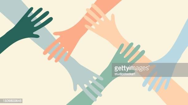 illustrazioni stock, clip art, cartoni animati e icone di tendenza di volontariato, carità, donazioni e solidarietà. - organizzazione no profit