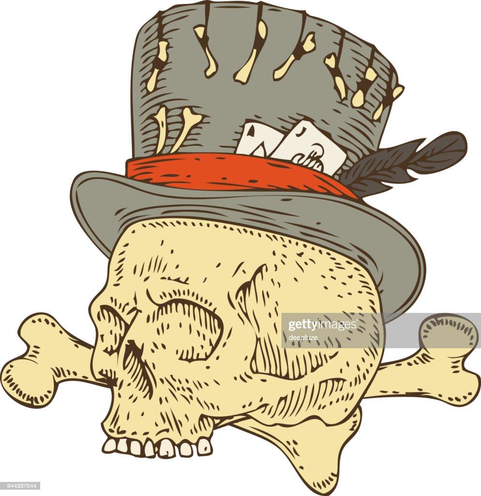 Voodoo Skull in Old Hat