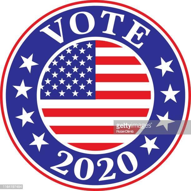 vote 2020 label - voting stock illustrations