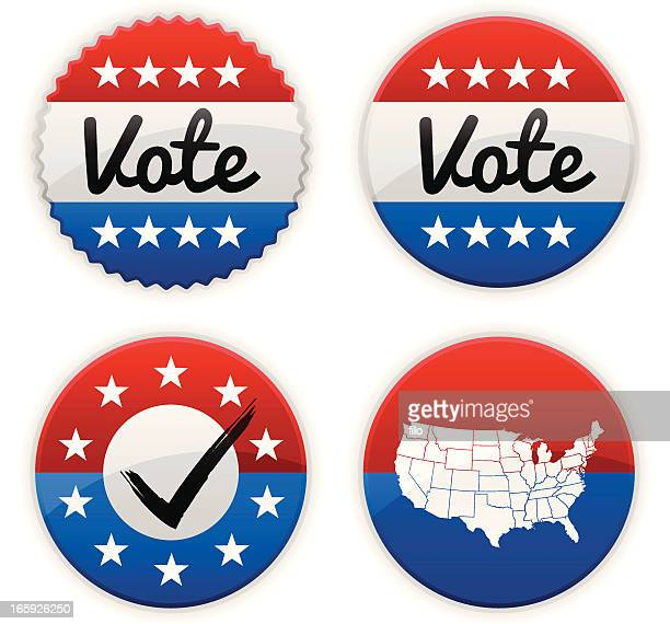 vote badges - great seal stock illustrations, clip art, cartoons, & icons