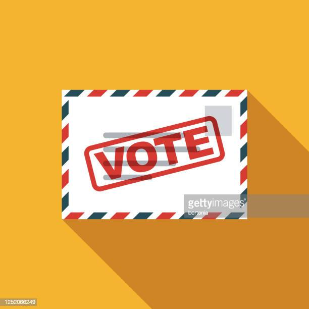 vote by mail us election icon - united states presidential election stock illustrations
