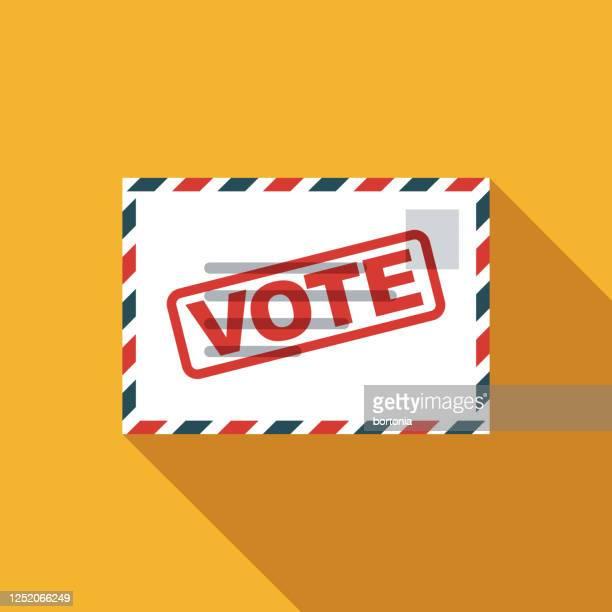stockillustraties, clipart, cartoons en iconen met stem per mail amerikaanse verkiezing pictogram - amerikaanse presidentsverkiezingen