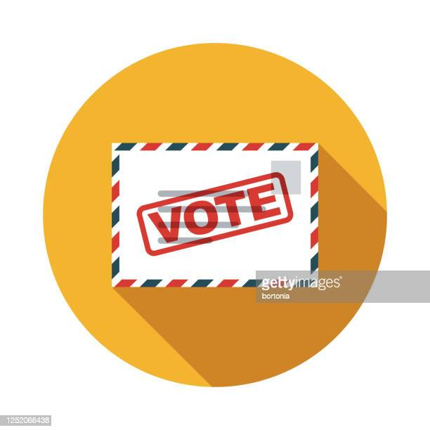 vote by mail us election icon - voting by mail stock illustrations
