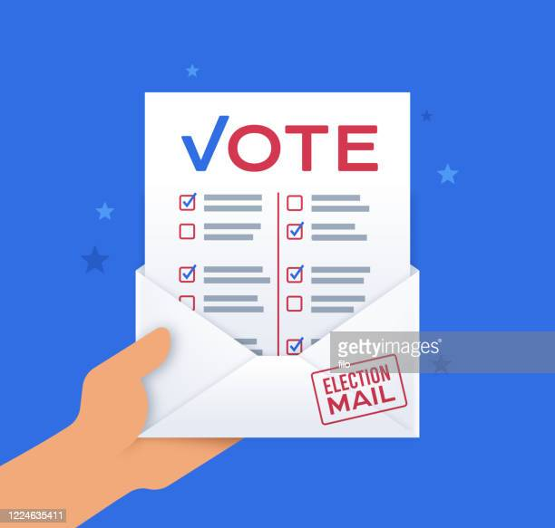 vote by mail - voting by mail stock illustrations