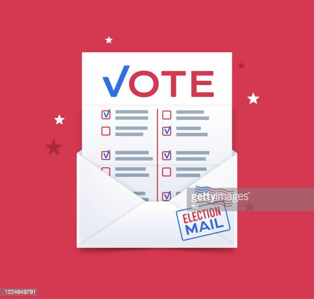 vote by mail - political party stock illustrations