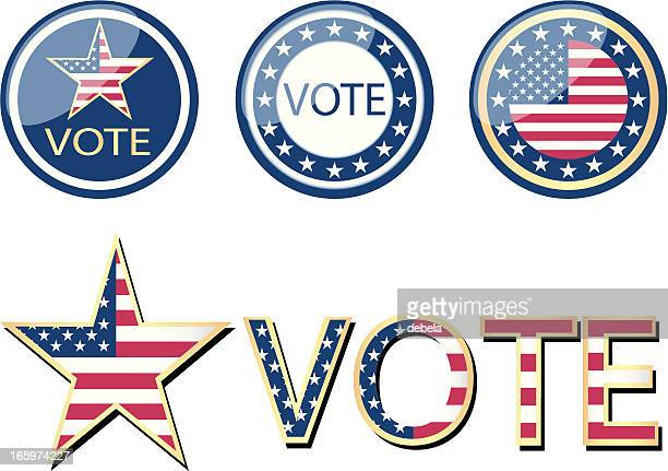 usa vote campaign - president stock illustrations, clip art, cartoons, & icons