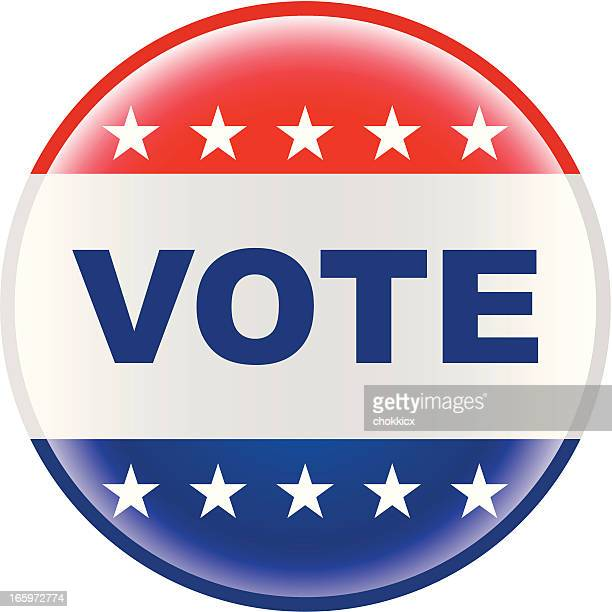 vote election pin bage - voting stock illustrations
