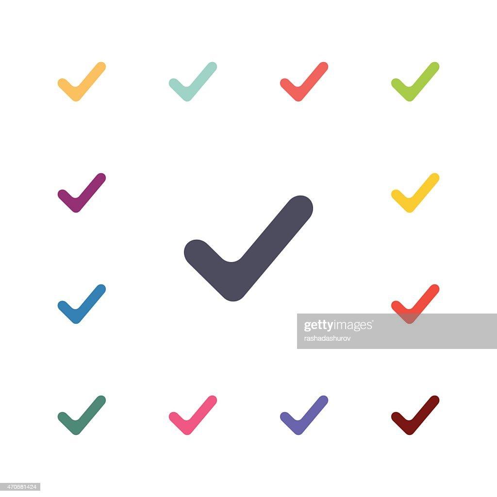 vote flat icons set