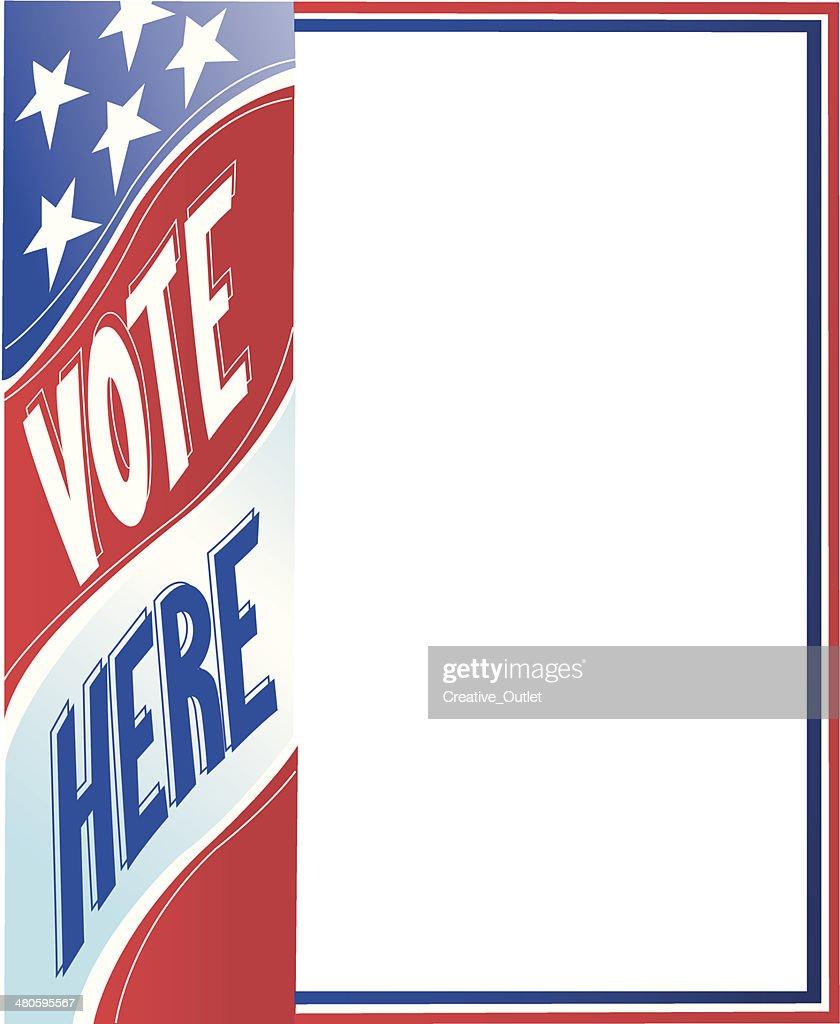 Vote Here Frame C : Vector Art