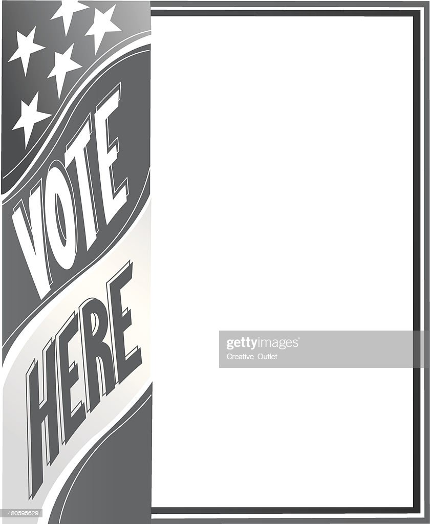 Vote Here Frame : Vector Art