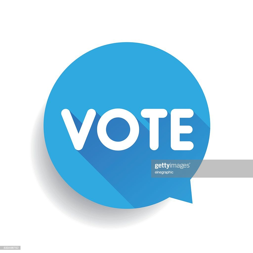 Vote label speech bubble vector