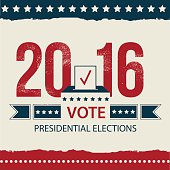 Vote Presidential Election card, Presidential Election Poster Design.