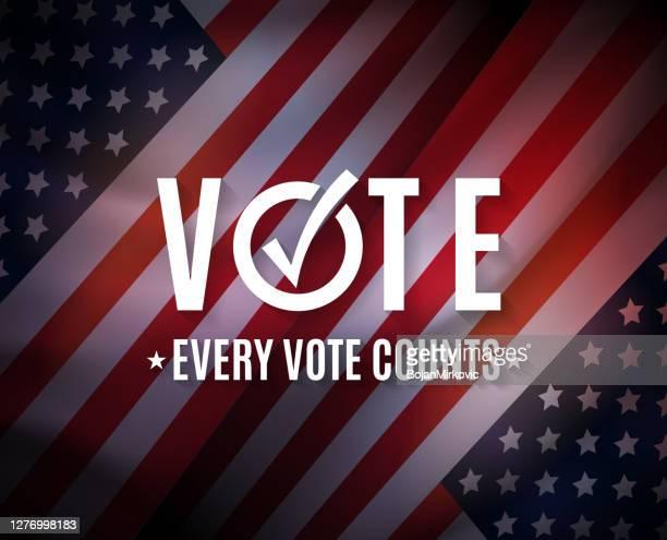 投票、米国の選挙の背景。すべてのコートが重要です。ベクトル - 投票点のイラスト素材/クリップアート素材/マンガ素材/アイコン素材