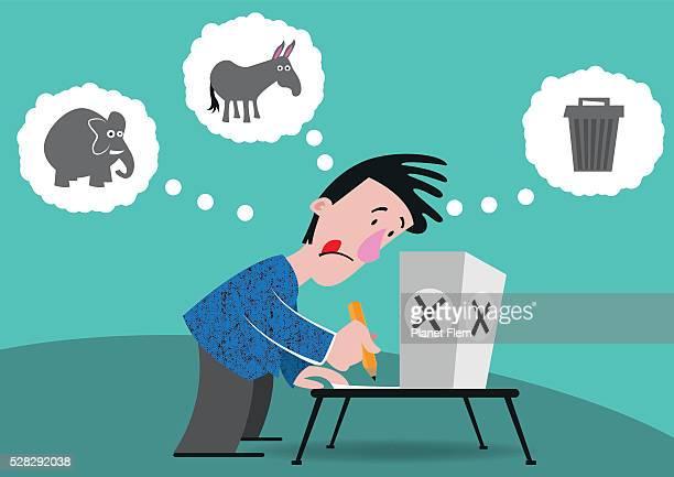ilustrações, clipart, desenhos animados e ícones de as escolhas de eleitor - representar