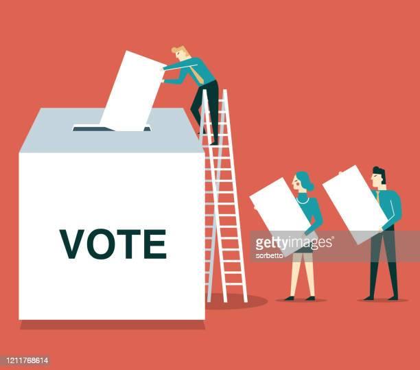 voters - voting ballot stock illustrations