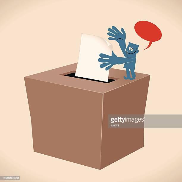 ilustraciones, imágenes clip art, dibujos animados e iconos de stock de voto en las urnas - urna de voto
