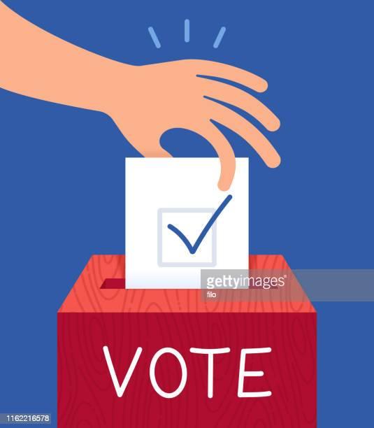 voting ballot box - voting ballot stock illustrations