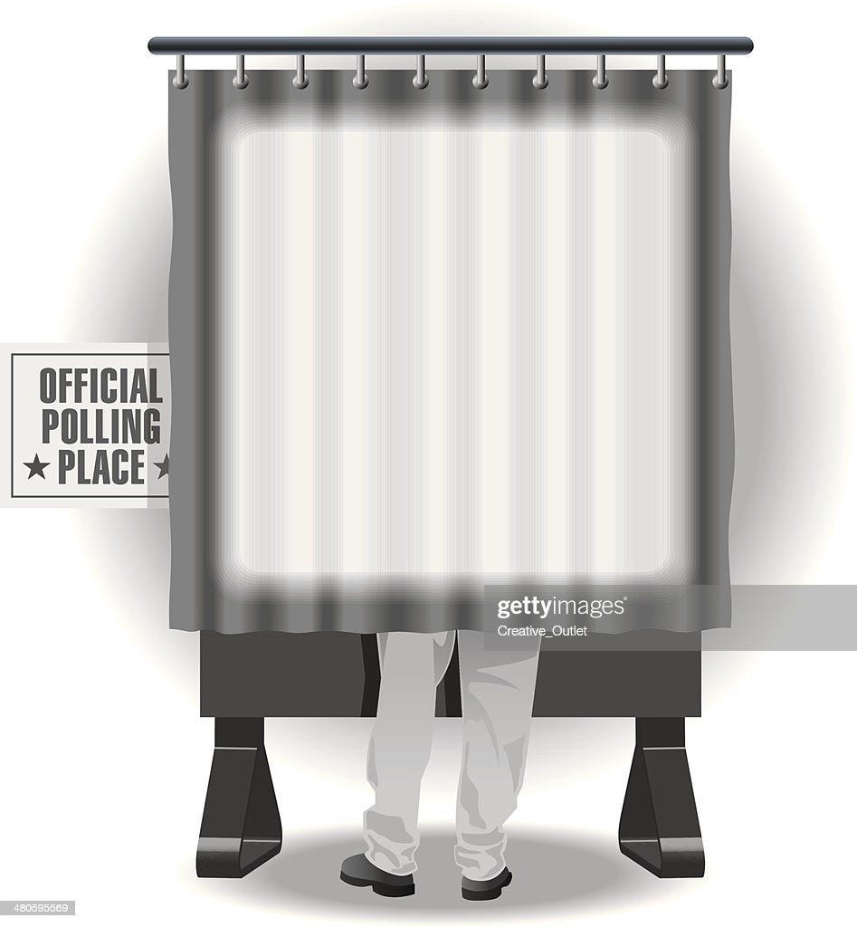 Voting Booth Mortice : Vector Art