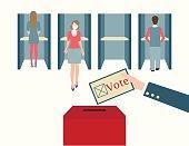 Voting booths design.